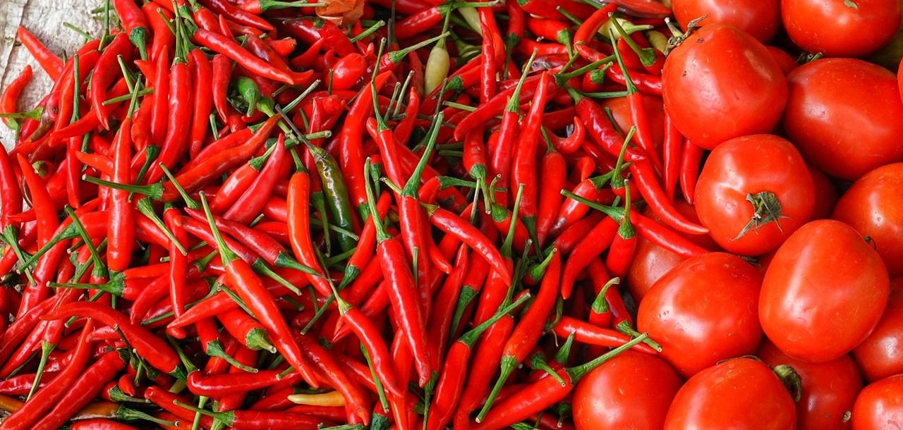 legume de culoare rosie