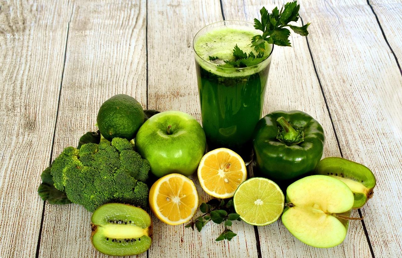 fructe si legume de culoare verde